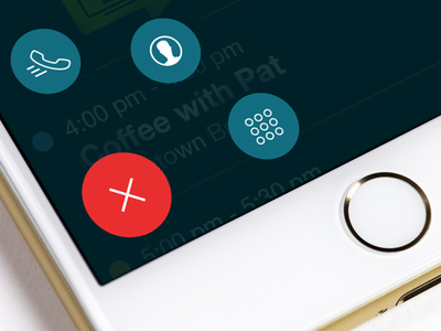 MobileDay Secondary Actions concept ui ux interface interaction design pattern ios iphone android uxui