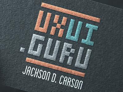 UXUI.GURU Identity Concept identity print card mockup embossed logo brand mark domain business card uxui uxui.guru