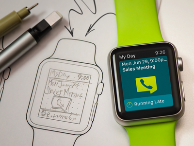 Featured Watch app: from sketch to reality