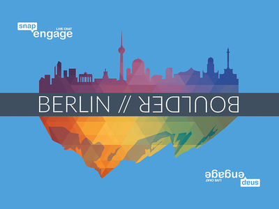 SnapEngage Postcard mountains city low poly polygons polygon poly geometric cities boulder berlin postcard print