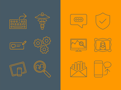 Icons for SnapEngage design in house set stroke outline icon ui thin line icons