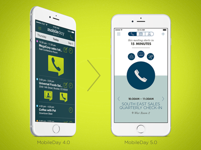 Mobileday UX/UI Refresh sprint design direction app native user experience interface mobile android ios ux ui