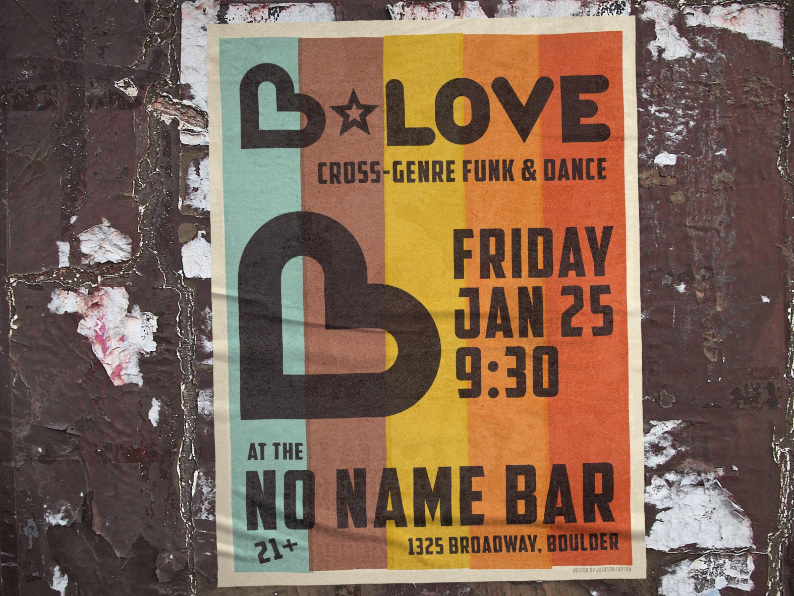 B love poster mockup 01