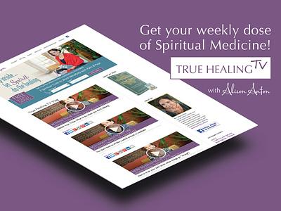 Promo for a healing video series colors promotional design video web design website design webdesign website