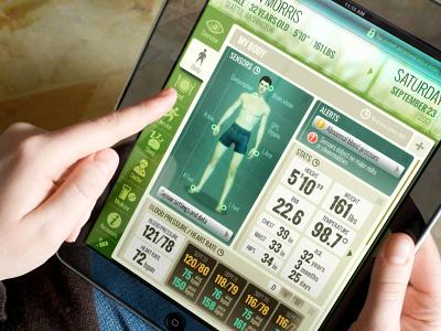 Zummon Health iPad app ui ux interface ipad
