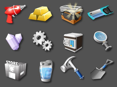 Monsterama Planet Icons ui game gui interface icon vector