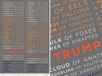 Trump of Idiots - Collective Nouns Poster design maga politics trump