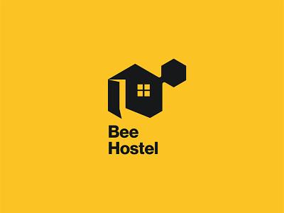 Bee Hostel booking nature honeybee honey eco minimalistic logotype bee hotel hostel