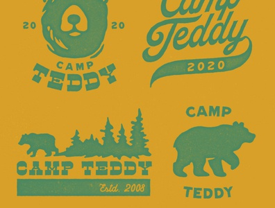 Camp Teddy Frocket Logo teddy bear camping camp tshirtdesign design lettering process illustraion logo