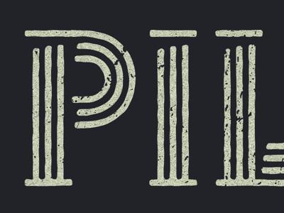 Pillars Type Treatment pillars greek illustration graphic design type design lettering