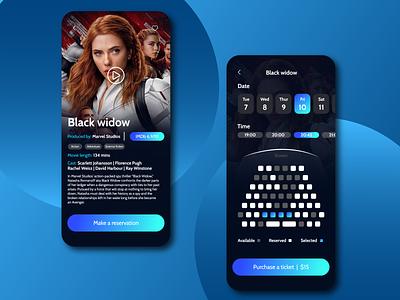 Cinema Mobile App cinema app design cinema design trend trending concept ux cinema app cinema movies movie mobile app app design graphic design ui
