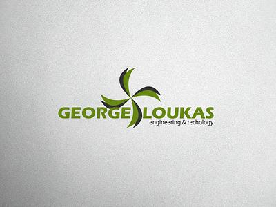 George Loukas Logo V1 vector logo design branding brand