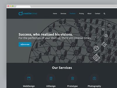 creative times Website secondnetwork identity corporate webdesign website logo design branding brand