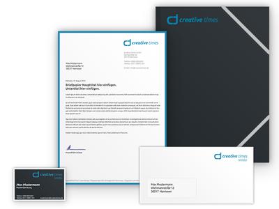 creative times Letterhead secondnetwork identity corporate letterhead logo design branding brand