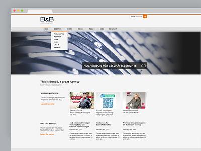 B&B Website 2013 Conceptdesign website