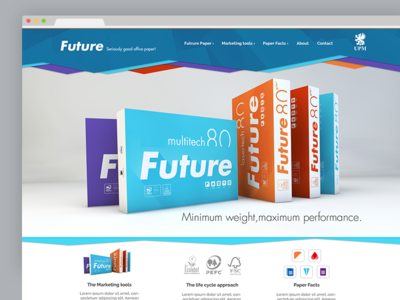 Future Paper | Website Conceptdesign conceptdesign webseite