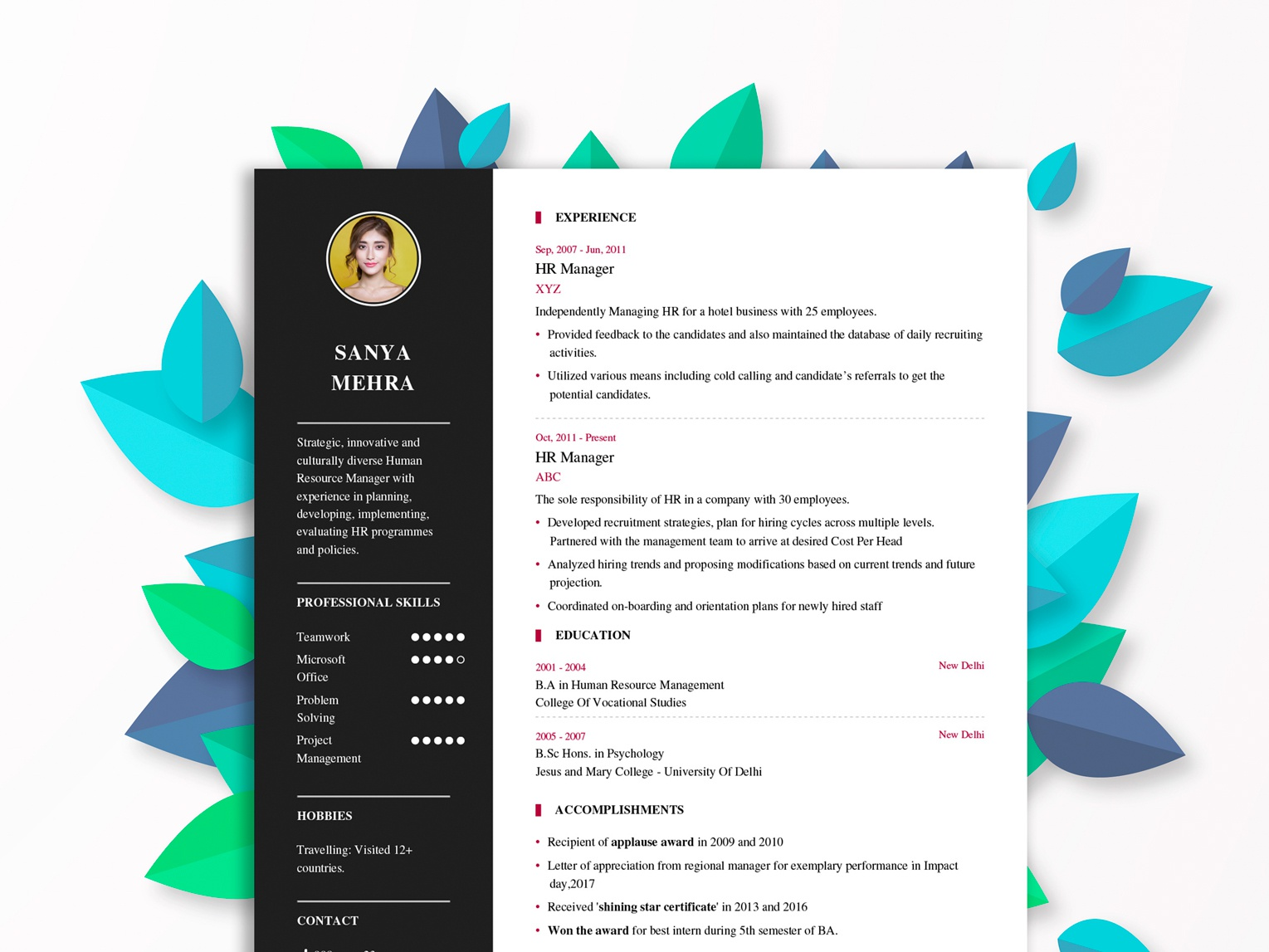 Resume Builder By Dheeraj Anand On Dribbble