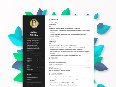 Resume Format Designs Themes Templates And Downloadable Graphic Elements On Dribbble