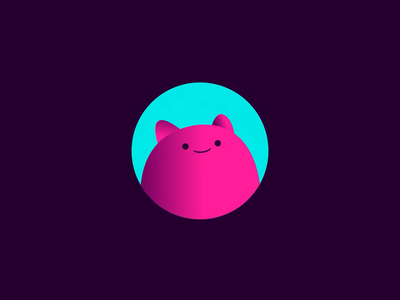 Giggl - Mascot Animation cat mascot preloader icon animation motion graphics motion design motion branding reveal brand animation animation alexgooco ae after effects 2d 2d animation character