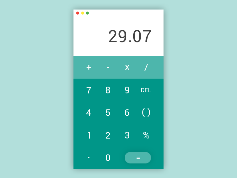 Calculator - Daily UI #004 daily ui 004 004 dailyui daily ui ui ui design ux ux design ui ux flat material design calculator