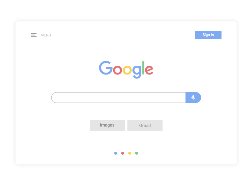 Google Search clean daily ui ui ui design pastel flat minimal google search google