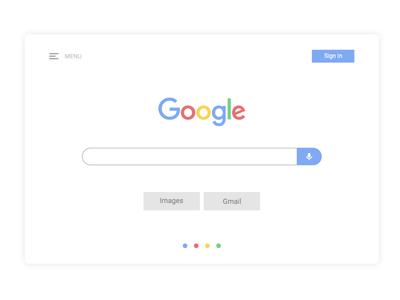 Google Search clean daily ui ui ui design pastel flat minimal google search google