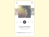 Music Player - Daily UI #009