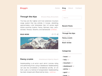 Bloggin - Minimal blog layout