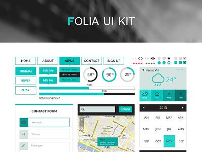 Folia UI - PSD Kit flat ui ux clean modern elegant multipurpose