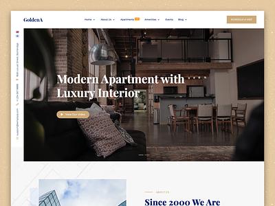 GoldenA - Single Property Joomla Template ui  ux website builder real estate property website apartment
