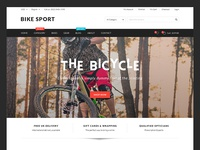 Bike Sport - Freebie PSD Template