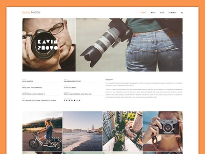 Kavin Photo - Personal Blog Joomla Template simple personal music modern lifestyle instagram gallery photo creative clean blogger blog