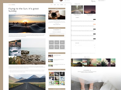 Blog Post view - Kavin Project simple personal music modern lifestyle instagram gallery photo creative clean blogger blog