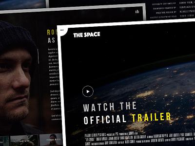 The Space - Single Film Campaign WordPress Theme creative fullscreen gallery background video video music film