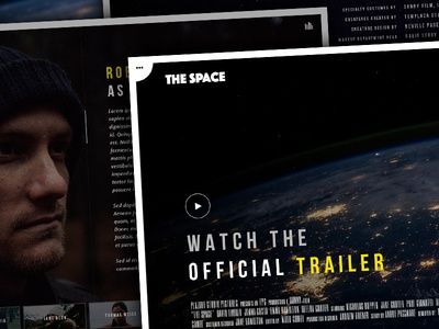 The Space - Single Film Campaign WordPress Theme creative fullscreen gallery background video video music film