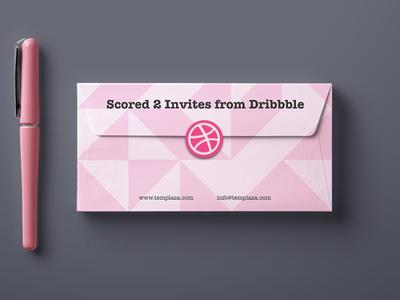 Scored 2 invitations from Dribbble debut dribbble invitation invite