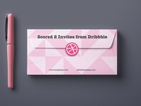 Scored 2 invitations from Dribbble