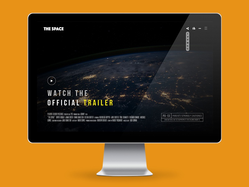 The Space - Rebound version creative fullscreen gallery background video video music film