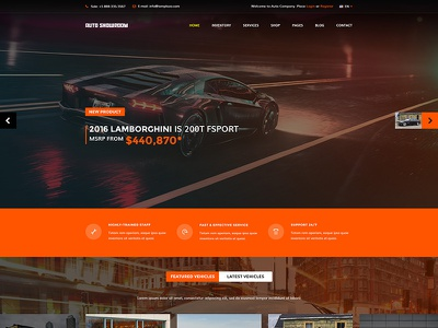 Auto Showroom - Car Dealership Joomla Template company agency dealer car automotive showroom auto
