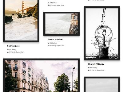 Art Gallery - TZ Portfolio+ Template clean picture gallery artist art