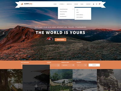 Aventura - Travel & Tour Booking System WordPress Theme vacation trip travel tour operator tour management tour booking tour agency tour reservation holiday booking adventure