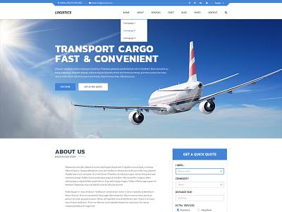 Logistics - Transportation & Logistics Joomla Template transportation logistic