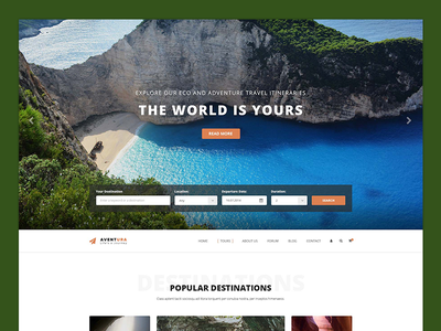 Home Ver5 - Aventura WordPress Theme vacation trip travel tour operator tour management tour booking tour agency tour reservation holiday booking adventure