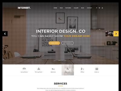 Interiart - Freebie PSD Template free freebie room lifestyle interior indoor house furniture decoration decor architecture apartment