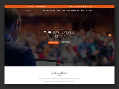 Meetup - Free PSD Template
