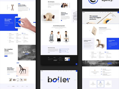 Boiler – Creative Agency PSD Template themeforest psd download psd template agency website psd creative