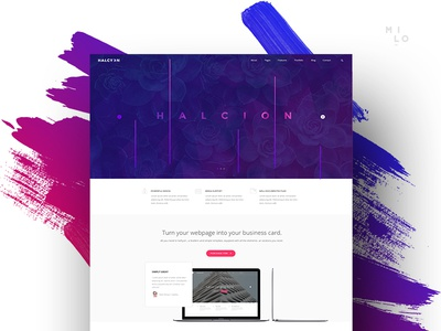 Halcyon - Modern Website Template parallax themes wordpress bootstram framework coded html5 website template
