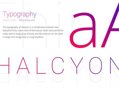 Typography Halcyon psd html wordpress presentation website template webdesign halcyon
