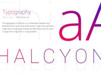 Typography Halcyon