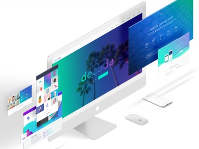 Decode  creative modern agency ui ux design inspiration webdesign design theme